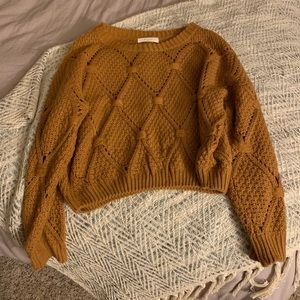 Sweaters - Boutique Cropped Oversized Knit Sweater